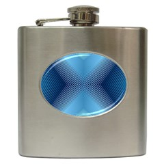 Converging Lines Blue Shades Glow Hip Flask (6 Oz)
