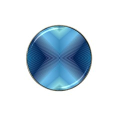 Converging Lines Blue Shades Glow Hat Clip Ball Marker