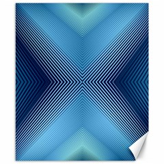Converging Lines Blue Shades Glow Canvas 8  X 10