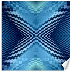 Converging Lines Blue Shades Glow Canvas 20  X 20