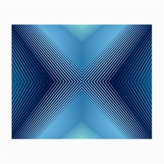 Converging Lines Blue Shades Glow Small Glasses Cloth (2 Side)