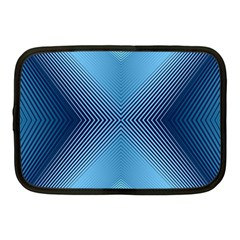 Converging Lines Blue Shades Glow Netbook Case (medium)