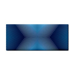 Converging Lines Blue Shades Glow Cosmetic Storage Cases