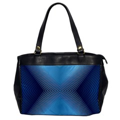 Converging Lines Blue Shades Glow Office Handbags