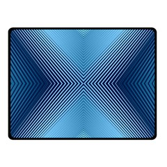 Converging Lines Blue Shades Glow Fleece Blanket (small)