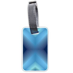 Converging Lines Blue Shades Glow Luggage Tags (one Side)
