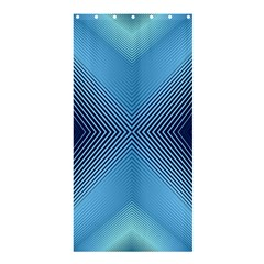 Converging Lines Blue Shades Glow Shower Curtain 36  X 72  (stall)