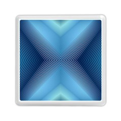 Converging Lines Blue Shades Glow Memory Card Reader (square)  by Nexatart