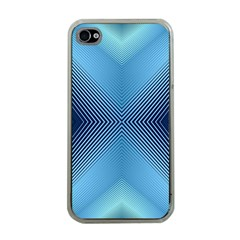 Converging Lines Blue Shades Glow Apple Iphone 4 Case (clear)