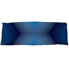 Converging Lines Blue Shades Glow Body Pillow Case Dakimakura (two Sides)
