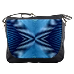 Converging Lines Blue Shades Glow Messenger Bags