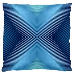 Converging Lines Blue Shades Glow Large Cushion Case (two Sides)