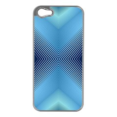 Converging Lines Blue Shades Glow Apple Iphone 5 Case (silver)