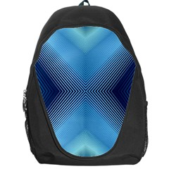 Converging Lines Blue Shades Glow Backpack Bag