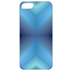 Converging Lines Blue Shades Glow Apple Iphone 5 Classic Hardshell Case