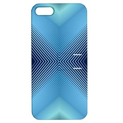 Converging Lines Blue Shades Glow Apple Iphone 5 Hardshell Case With Stand