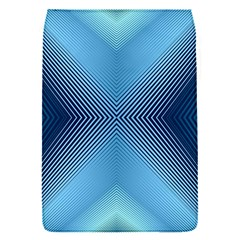 Converging Lines Blue Shades Glow Flap Covers (s)