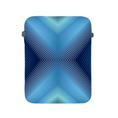 Converging Lines Blue Shades Glow Apple Ipad 2/3/4 Protective Soft Cases