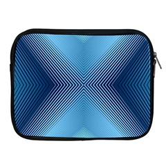 Converging Lines Blue Shades Glow Apple Ipad 2/3/4 Zipper Cases