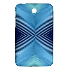 Converging Lines Blue Shades Glow Samsung Galaxy Tab 3 (7 ) P3200 Hardshell Case
