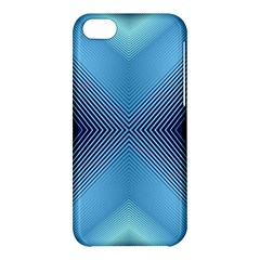 Converging Lines Blue Shades Glow Apple Iphone 5c Hardshell Case