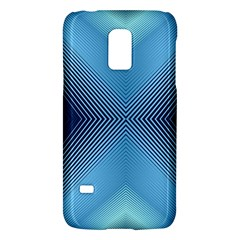 Converging Lines Blue Shades Glow Galaxy S5 Mini
