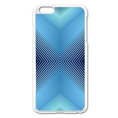 Converging Lines Blue Shades Glow Apple Iphone 6 Plus/6s Plus Enamel White Case