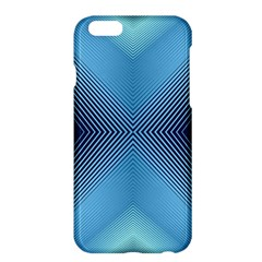 Converging Lines Blue Shades Glow Apple Iphone 6 Plus/6s Plus Hardshell Case
