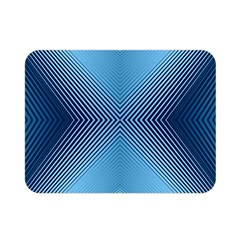 Converging Lines Blue Shades Glow Double Sided Flano Blanket (mini)