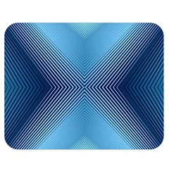 Converging Lines Blue Shades Glow Double Sided Flano Blanket (medium)