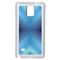 Converging Lines Blue Shades Glow Samsung Galaxy Note 4 Case (white)