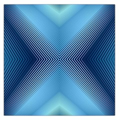 Converging Lines Blue Shades Glow Large Satin Scarf (square)