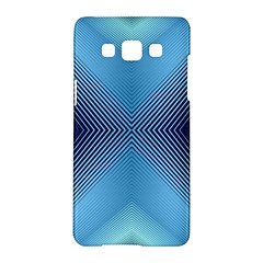 Converging Lines Blue Shades Glow Samsung Galaxy A5 Hardshell Case