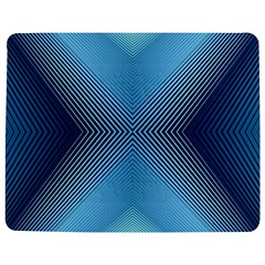 Converging Lines Blue Shades Glow Jigsaw Puzzle Photo Stand (rectangular)