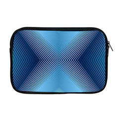 Converging Lines Blue Shades Glow Apple Macbook Pro 17  Zipper Case