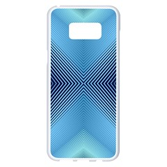 Converging Lines Blue Shades Glow Samsung Galaxy S8 Plus White Seamless Case