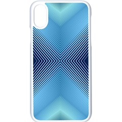 Converging Lines Blue Shades Glow Apple Iphone X Seamless Case (white)