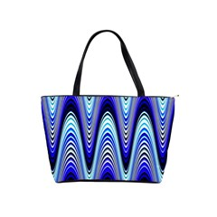 Waves Wavy Blue Pale Cobalt Navy Shoulder Handbags