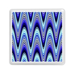 Waves Wavy Blue Pale Cobalt Navy Memory Card Reader (square)