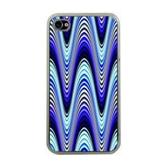 Waves Wavy Blue Pale Cobalt Navy Apple Iphone 4 Case (clear)