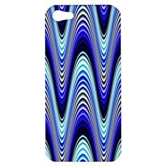Waves Wavy Blue Pale Cobalt Navy Apple Iphone 5 Hardshell Case