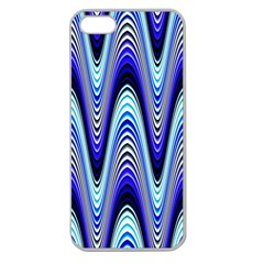 Waves Wavy Blue Pale Cobalt Navy Apple Seamless Iphone 5 Case (clear)