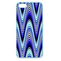 Waves Wavy Blue Pale Cobalt Navy Apple Seamless Iphone 5 Case (color)