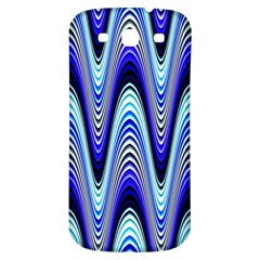 Waves Wavy Blue Pale Cobalt Navy Samsung Galaxy S3 S Iii Classic Hardshell Back Case