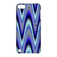 Waves Wavy Blue Pale Cobalt Navy Apple Ipod Touch 5 Hardshell Case With Stand