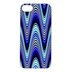 Waves Wavy Blue Pale Cobalt Navy Apple Iphone 5s/ Se Hardshell Case