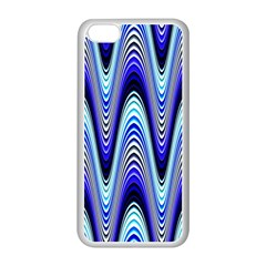 Waves Wavy Blue Pale Cobalt Navy Apple Iphone 5c Seamless Case (white)