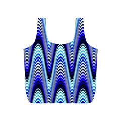 Waves Wavy Blue Pale Cobalt Navy Full Print Recycle Bags (s)
