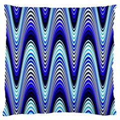 Waves Wavy Blue Pale Cobalt Navy Standard Flano Cushion Case (two Sides)