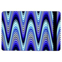 Waves Wavy Blue Pale Cobalt Navy Ipad Air 2 Flip